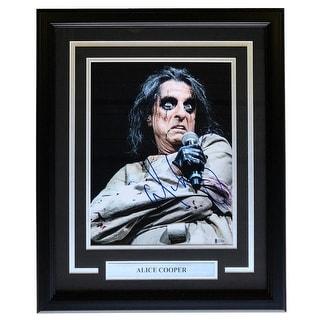 Alice Cooper Signed Framed 11x14 Photo BAS H19806