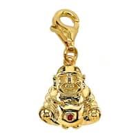 Julieta Jewelry Buddha Gold Sterling Silver Charm