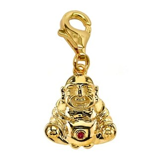 Julieta Jewelry Buddha Gold Sterling Silver Charm