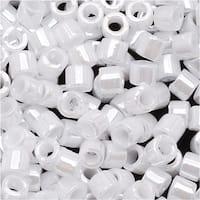 Miyuki Delica Seed Beads 10/0 Opaque White Pearl DBM0201 8 GR