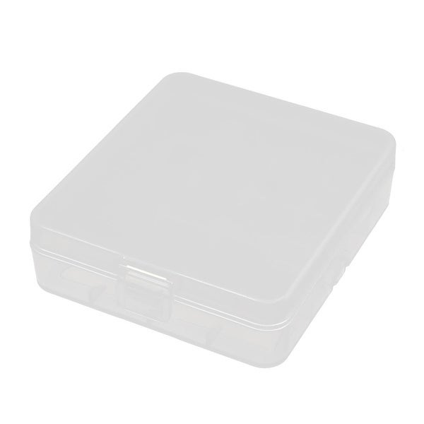 87mmx78mmx28mm Transparent Storage Case Hard Plastic Battery Holder Organizer