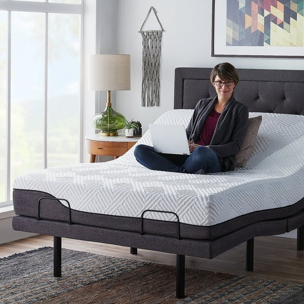 12-inch Hybrid Mattress and L300 Adjustable Bed Set by LUCID Comfort Collection. Opens flyout.