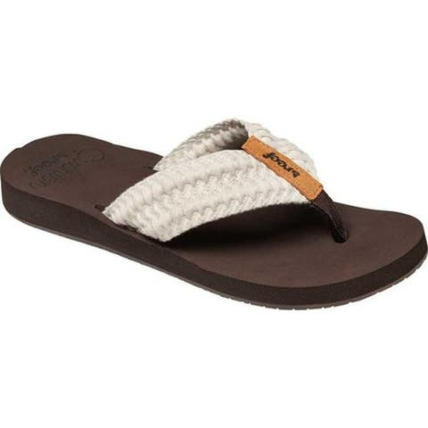 Reef Women's Cushion Threads Thong Sandal Vintage White