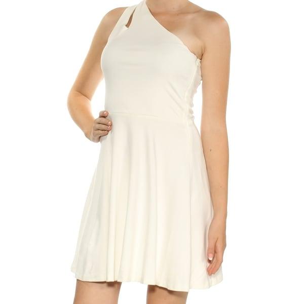Shop Bar Iii Womens White Cut Out Sleeveless Asymetrical
