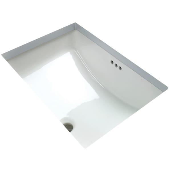 """Miseno MNO2114RU 20-7/8"""" Undermount Bathroom Sink with Overflow - White"""
