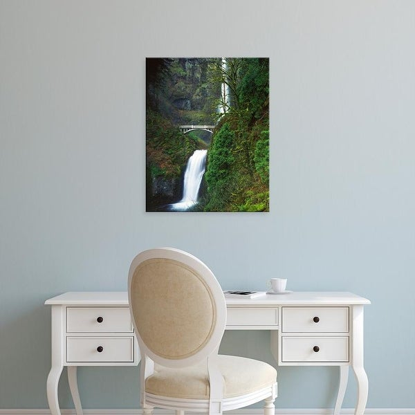 Easy Art Prints Charles Gurche's 'Multnomah Falls' Premium Canvas Art