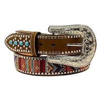 Blazin Roxx Western Belt Womens Beaded Stones Multi-Color