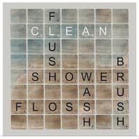 Longfellow Designs Poster Print entitled Bathroom Letters II - multi-color