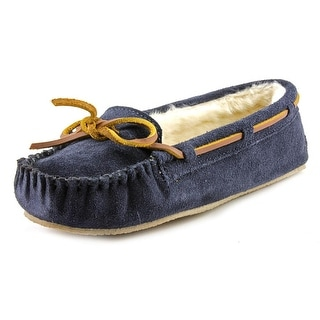 Minnetonka Cally Women Moc Toe Suede Blue Slipper