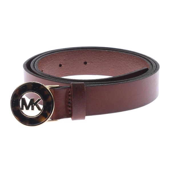 MICHAEL Michael Kors Womens Designer Belt Leather Signature - L