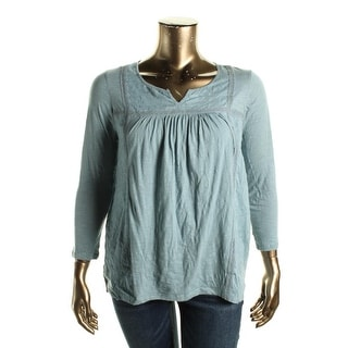 Lucky Brand Womens Blouse Pullover Casual