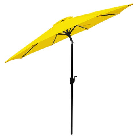 Sunflower Yellow/ Aluminum 9-foot Market Umbrella