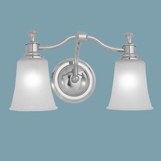 "Norwell Lighting 9722 Sienna 9"" Tall 2 Light Bathroom Vanity Light with White Glass Shades"