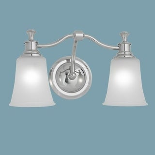 "Norwell Lighting 9722 Sienna 9"" Tall 2 Light Bathroom Vanity Light with White Glass Shades"