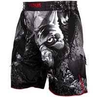 Venum Werewolf Side Mesh Panel MMA Fight Shorts - Black/Gray