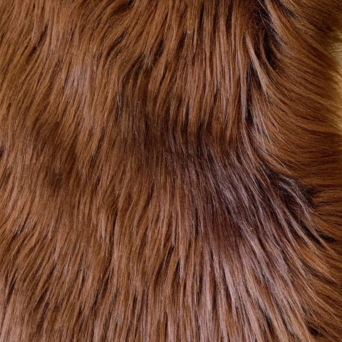 Dynasty Natural 6-Pelt Luxury Long Wool Sheepskin Shag Rug - 5' x 5'5""
