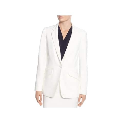 T Tahari Womens One-Button Blazer Double Pocket Suit Separate