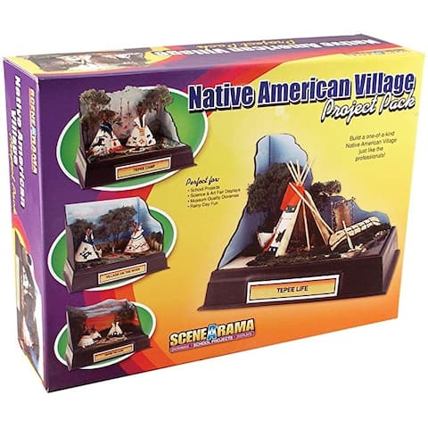 Woodland Scenics - Scene-A-Rama Project Pack Native American Village Kit