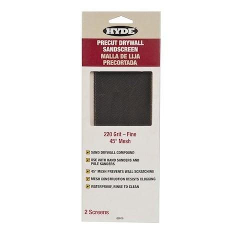 HYDE 09916 220-Grit Drywall Screen, 45 Degree Mesh