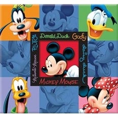 "Trends Mickey & Friends Embossed Post Bound Album 12""X12""-"