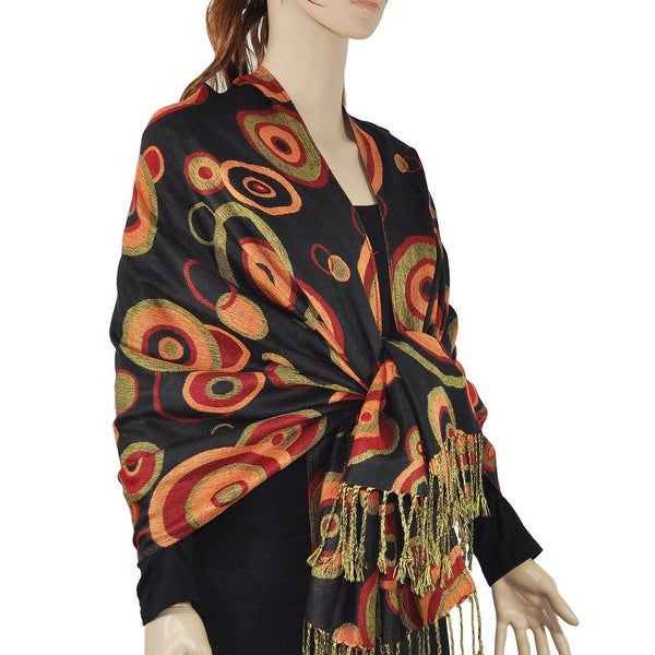 Women's Multi-Circle Woven Pashmina Shawl Wrap Scarf