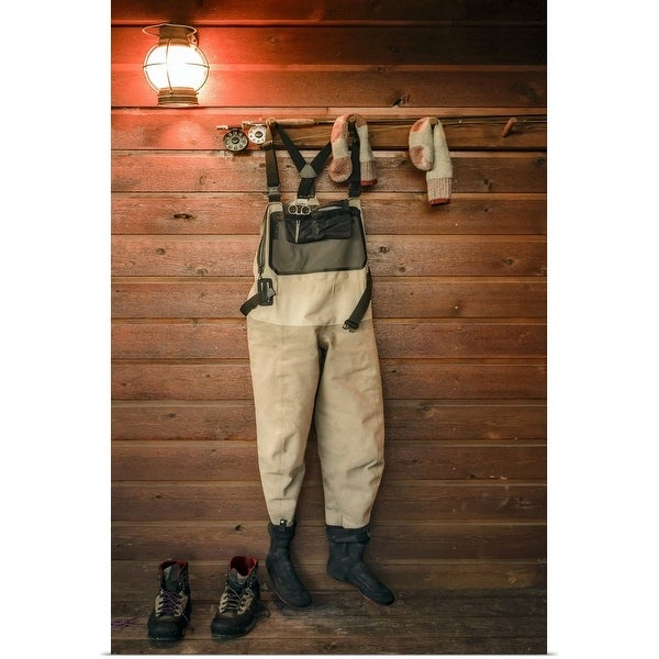 """""""Fisherman's waders, rod and boots"""" Poster Print"""