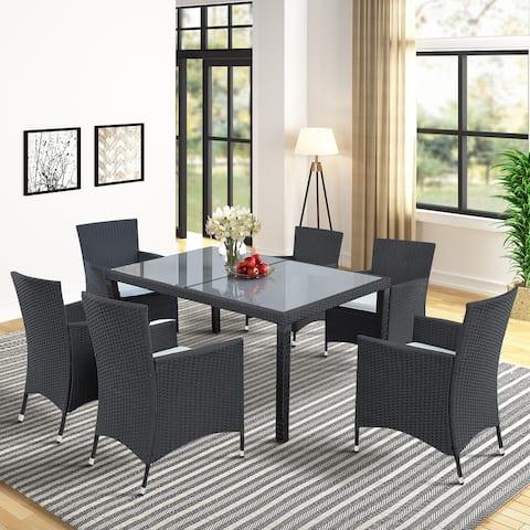 7-Piece Outdoor Wicker Dining Set
