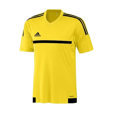 Adidas Boys MLS 15 Match Jersey T-Shirt Yellow/Black Size Youth - Yellow