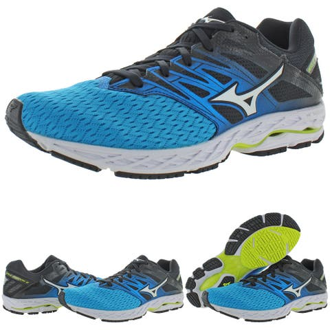 Mizuno Mens Wave Shadow 2 Running Shoes Trainers Gym - Blue/White/Yellow