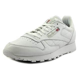 Reebok Reebok Classic Round Toe Leather Sneakers