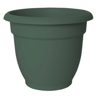"Fiskars 20-56412 Ariana Planter, 12"", Thyme Green"