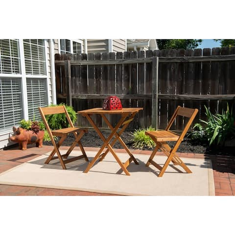 Seacrest Brown Three Piece Square Table Set