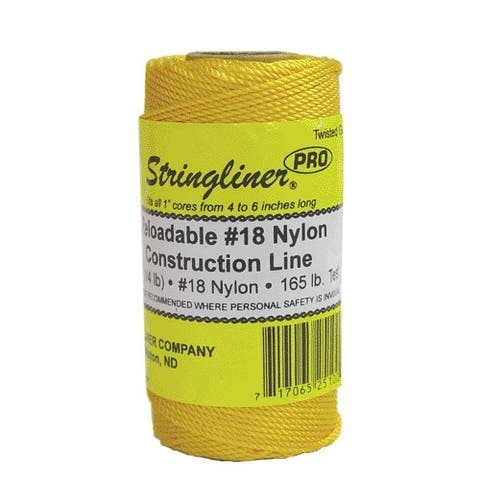 Stringliner 35100 Twisted Mason Line Reel Refill, Gold, 270'