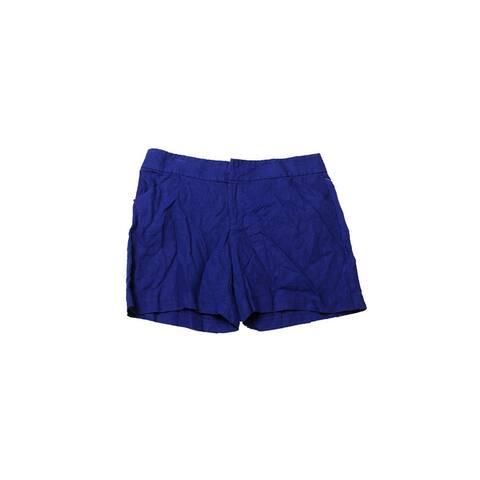 Inc International Concepts Goddess Blue Linen Shorts 4 Size - S (4 - 6)