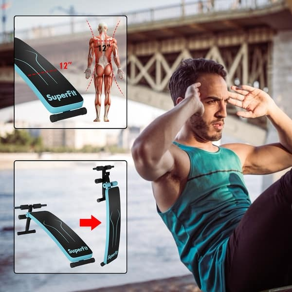 Demon Play éxito gobierno  SuperFit Folding Weight Bench Adjustable Sit-up Board Workout Slant -  Overstock - 30364462