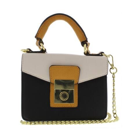 BCBGeneration Womens Raphaela Crossbody Handbag Faux Leather Mini - Small