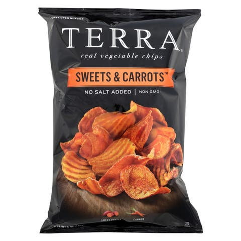 Terra Chips Sweet Potato Chips - Sweets and Carrots - Case of 12 - 6 oz.
