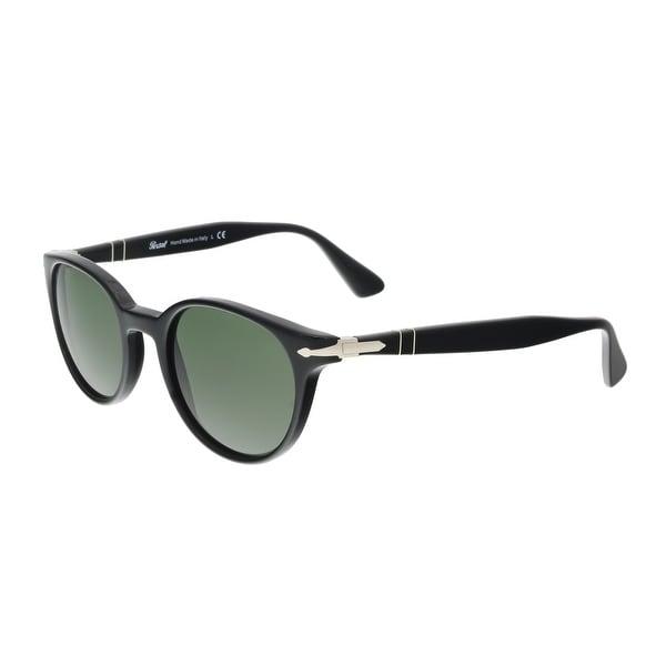 a390c24a87 Shop Persol PO3151S 95 31 Black Round Sunglasses - 49-20-145 - Free ...