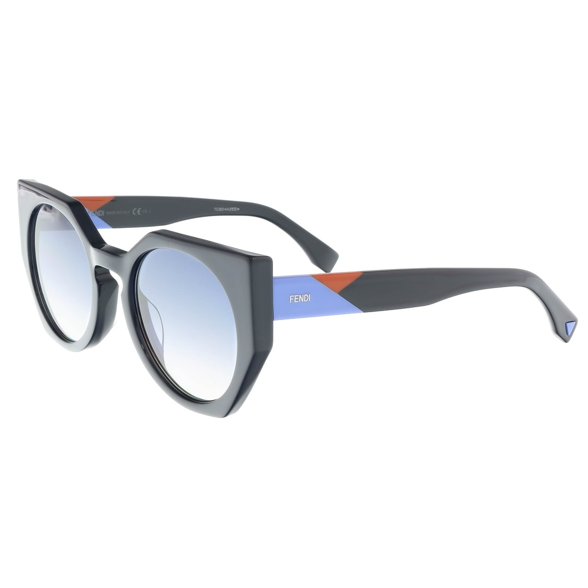 c9a5e71711 Shop Fendi FF 0151/S 0PJP Facets Blue Cateye Sunglasses - 51-22-140 - Free  Shipping Today - Overstock - 16790954