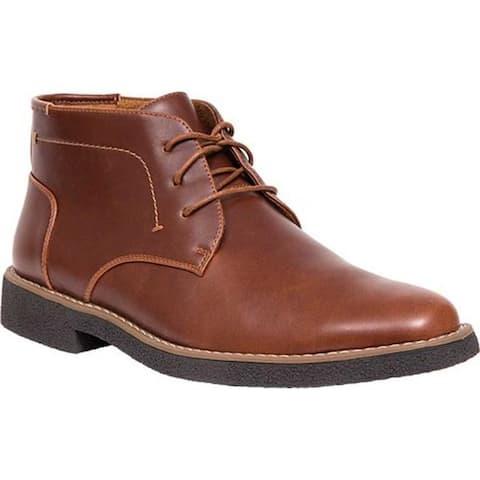 Deer Stags Men's Bangor Chukka Boot Redwood/Dark Brown Simulated Leather