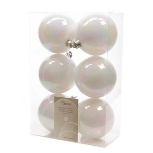 White Shatterproof Ball Set of 6