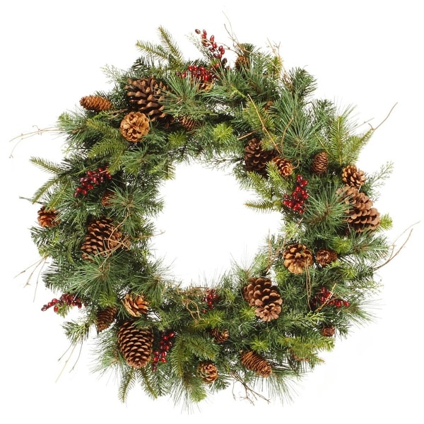 "36"" Cibola Mix Berry Pine Artificial Christmas Wreath - Unlit"