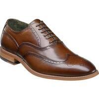 Stacy Adams Men's Dunbar Wingtip Oxford Cognac Leather