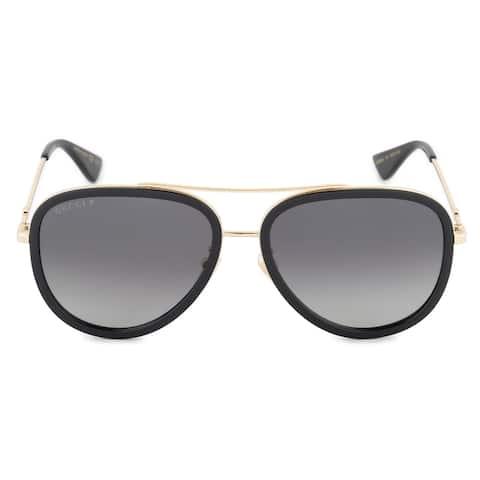 Gucci Polarized Aviator Sunglasses GG0062S 011 57 - 57mm x 17mm x 140mm