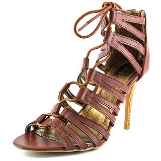 Rampage Womens Katapa Leather Open Toe Special Occasion Slide Sandals