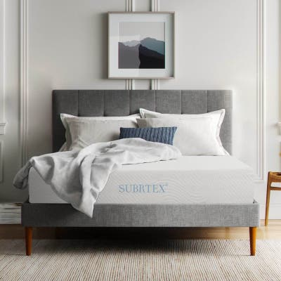 Subrtex 10-inch Gel-Infused Memory Foam Bed Mattress With Cover