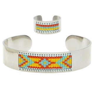 Beaded Centerline Bracelet and Ring Set - Sonora - Exclusive Beadaholique Jewelry Kit