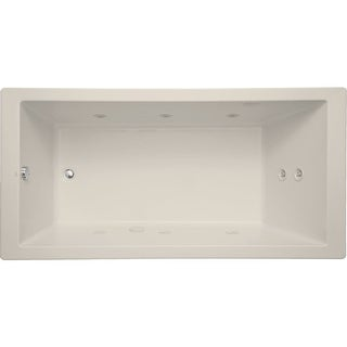 "Mirabelle MIRSKT7236  Sitka 72"" X 36"" Acrylic Total Massage Bathtub for Drop In or Undermount Installations with Reversible"