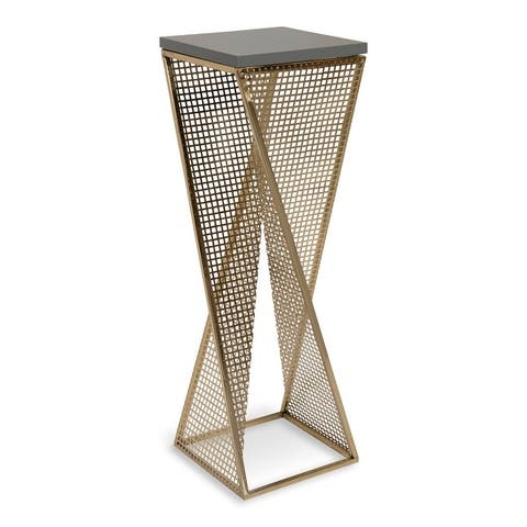 Kate and Laurel Elita Wood and Metal Accent Side Table - 10x10x30