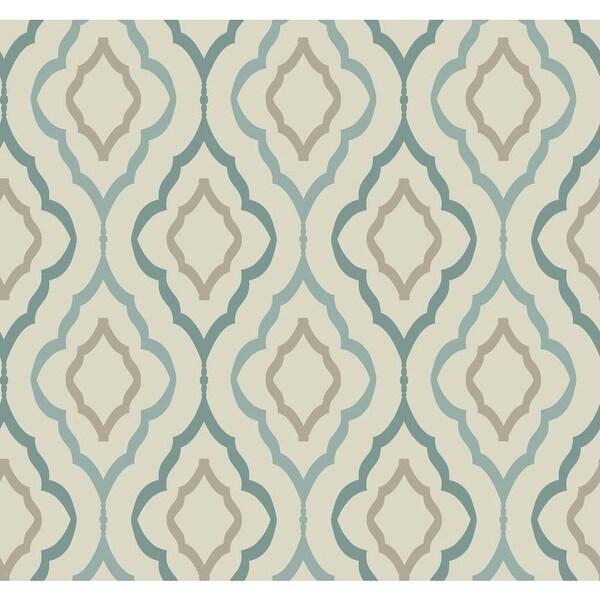 York Wallcoverings Nd7086 Diva Wallpaper Sand Teal Robins Egg Blue Cocoa